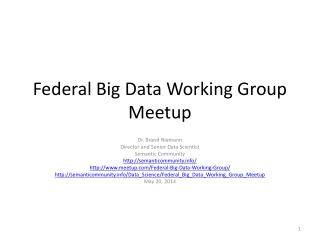 Federal Big Data Working Group  Meetup