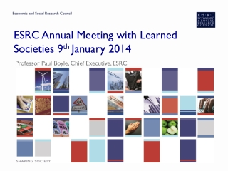 ESRC Annual Meeting with Learned Societies 9 th  January 2014