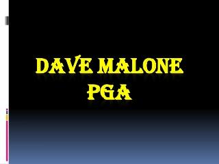 Dave Malone PGA - Golf Rain Wear