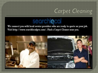 Search Local Professionals - Carpet Cleaning
