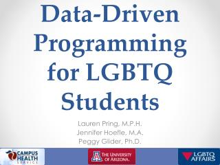 Data-Driven Programming for LGBTQ Students