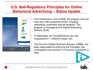 U.S. Self-Regulatory Principles for Online Behavioral Advertising – Status Update