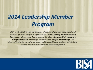 2014 Leadership Member  Program