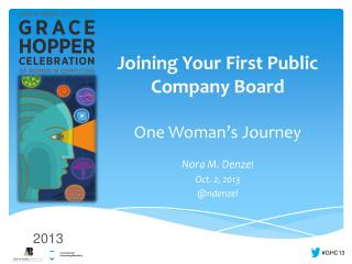 Joining Your First Public Company Board One Woman�s Journey