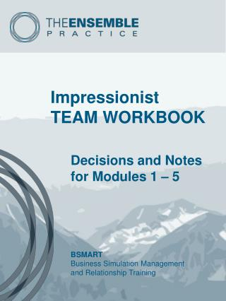 Impressionist TEAM WORKBOOK