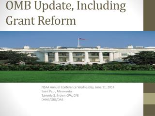 OMB Update, Including Grant Reform