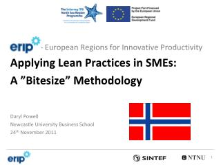 "-  European Regions for Innovative Productivity Applying Lean Practices in SMEs: A ""Bitesize"" Methodology"