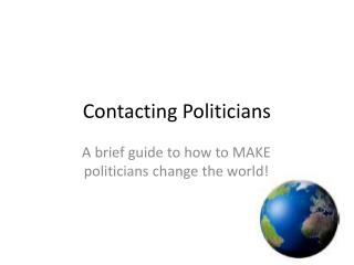 Contacting Politicians