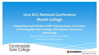 2014 ECC National Conference Marist  College