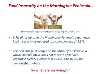 Food insecurity on the Mornington Peninsula�