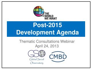 Post-2015 Development Agenda