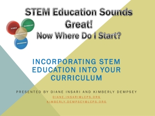 STEM  Education Sounds Great! Now Where Do I Start?