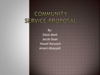 Community  service proposal