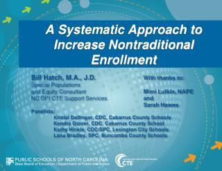 A Systematic Approach to Increase Nontraditional Enrollment