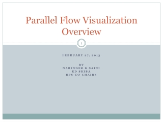 Parallel Flow Visualization Overview