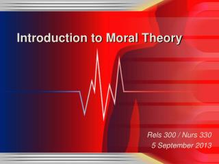 Introduction to Moral Theory