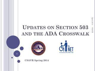 Updates on Section 503 and the ADA Crosswalk