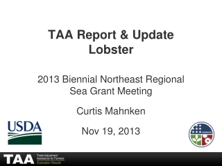 TAA Report &  Update Lobster