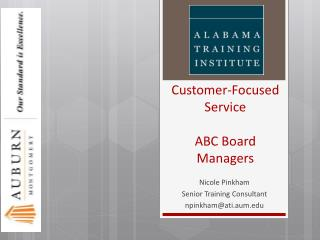 Customer-Focused Service ABC Board Managers
