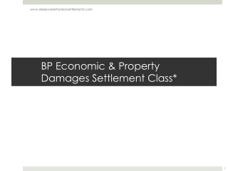 BP Economic & Property Damages Settlement Class*