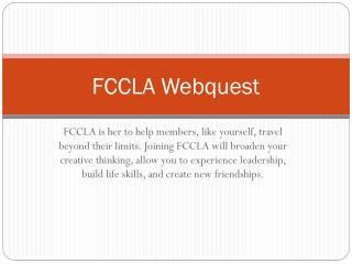 FCCLA Webquest