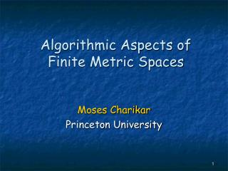 algorithmic aspects of finite metric spaces