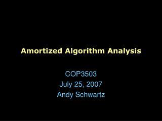 amortized algorithm analysis