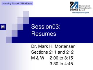 Session03: Resumes