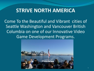 Strive North America offers one of the best  3D Video Game Development Programs in the United States.
