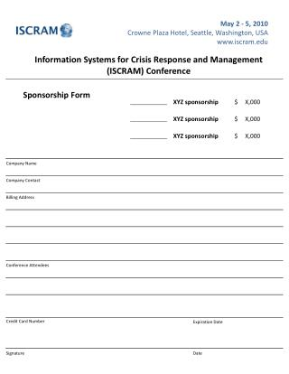 Information Systems for Crisis Response and Management (ISCRAM) Conference