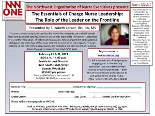 The Essentials of Charge Nurse Leadership:  The Role of the Leader on the Frontline