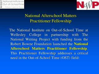 National Afterschool Matters Practitioner Fellowship