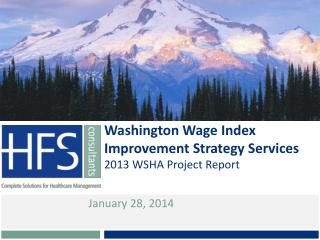 Washington Wage Index Improvement Strategy Services
