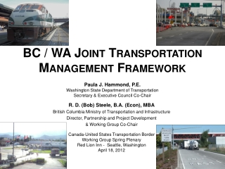 BC / WA Joint Transportation Management Framework