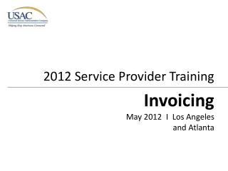 2012 Service Provider Training