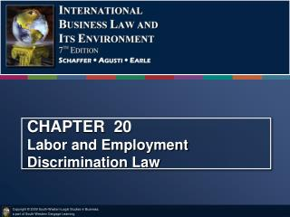 CHAPTER  20            Labor and Employment Discrimination Law