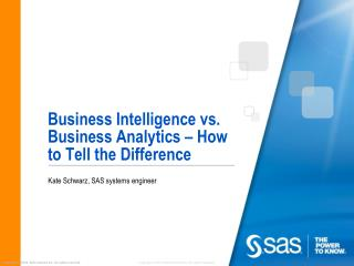 Business Intelligence vs. Business Analytics – How to Tell the Difference