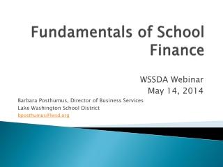Fundamentals of School Finance