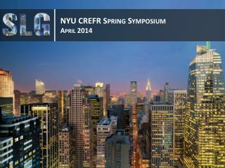NYU CREFR Spring Symposium April 2014