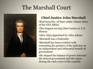 The Marshall Court