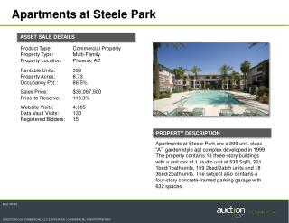 Apartments  at Steele  Park