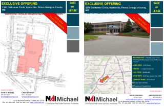 BUILDING SIZE:   174,834 +  Square Feet (Including 30,000 +  Square Feet of Office on 2 Levels) LAND AREA:   13.87 Acre