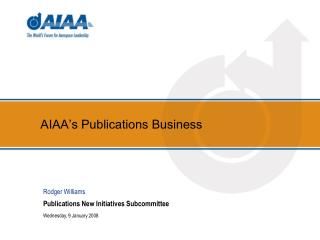 AIAA's Publications Business