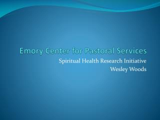 Emory Center for Pastoral Services