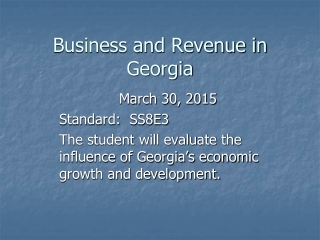 Business and Revenue in Georgia