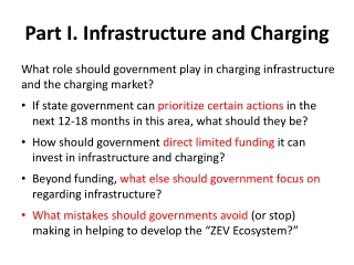 Part I.  Infrastructure  and  Charging