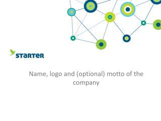 Name , logo and ( optional ) motto of the  company