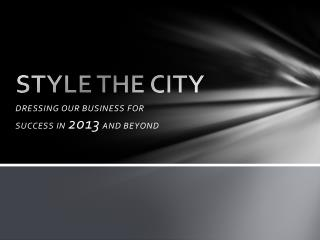 STYLE THE CITY