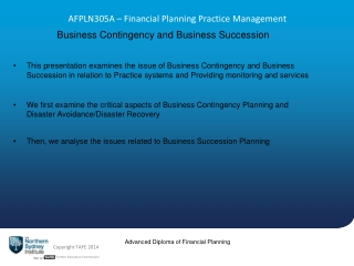 AFPLN305A  – Financial Planning Practice Management