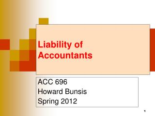 Liability  of  Accountants